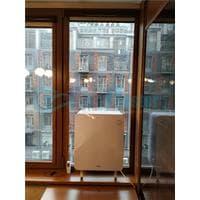 Установка бризера Тион 3s  Standard  на стеклопакет балконной стены