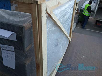 Выгрузили приточно-вытяжную установку Blauberg KOMFORT Roto EC LE2000-12-S17