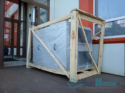 Приточно-вытяжная установка Blauberg KOMFORT Roto EC LE2000-12-S17 в сборе возле офиса