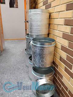 Готовые изолированные трубы воздуховода для центральной вентиляции офиса Альтуэра