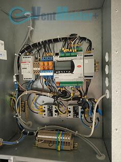 Электрощиток приточно-вытяжной вентиляционной установки Blauberg в офисе Альтуэра