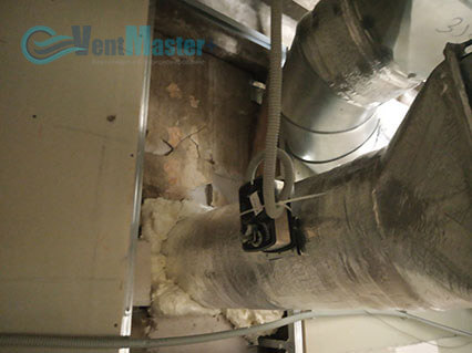Крепление приточного канала для приточно-вытяжной установки Blauberg-KOMFORT-Roto-EC-LE2000