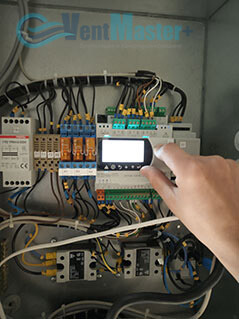 Запуск управления Blauberg-KOMFORT-Roto-EC-LE2000