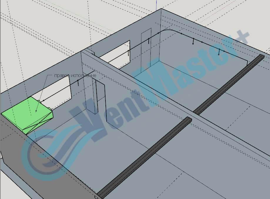 Рекуператор Blauberg KOMFORT EC DE1100-3.3 на схеме проекте вентиляции для учебного класса и мастерской ЦИТ Свято-Троицкой Сергиевой Лавры