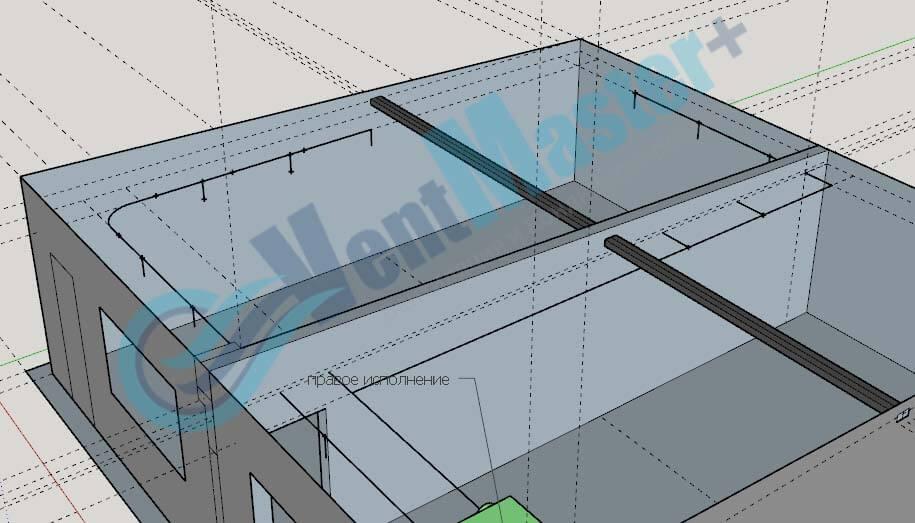 Установка Blauberg KOMFORT EC DE1100-3.3 на схеме проекте вентиляции для учебного класса и мастерской ЦИТ Свято-Троицкой Сергиевой Лавры