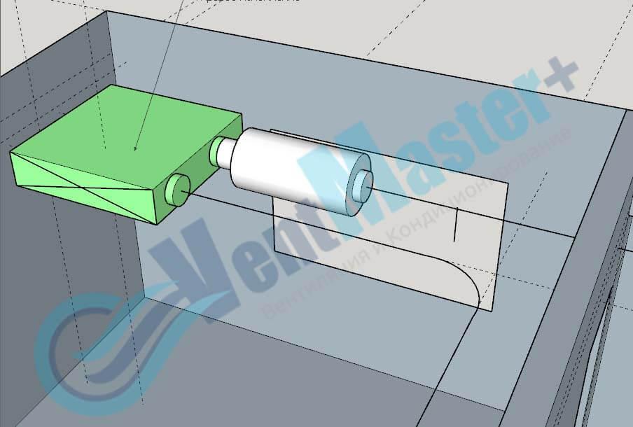 Рекуператор Blauberg KOMFORT EC DE1100-3.3 с шумоглушителем на схеме проекте вентиляции для учебного класса и мастерской ЦИТ Свято-Троицкой Сергиевой Лавры