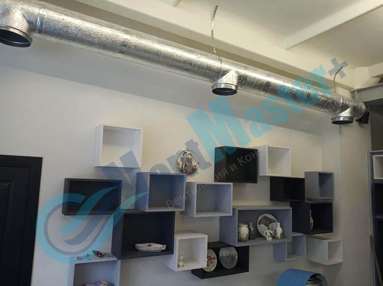 Установленные каналы для вентиляции в учебном классе и мастерской ЦИТ Свято-Троицкой Сергиевой Лавры