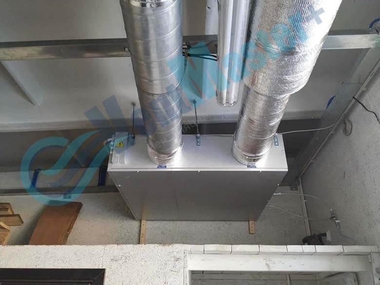 Демонстрация герметического соединения каналов для вентиляции установленных в учебном классе и мастерской ЦИТ Свято-Троицкой Сергиевой Лавры, план 4