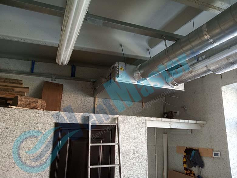 Демонстрация герметического соединения каналов для вентиляции установленных в учебном классе и мастерской ЦИТ Свято-Троицкой Сергиевой Лавры, план 6