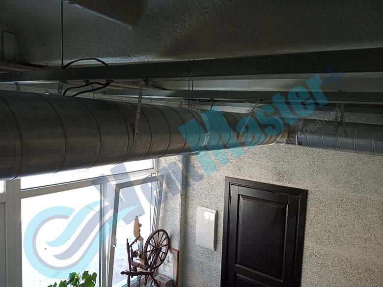Демонстрация герметического соединения каналов для вентиляции установленных в учебном классе и мастерской ЦИТ Свято-Троицкой Сергиевой Лавры, план 8