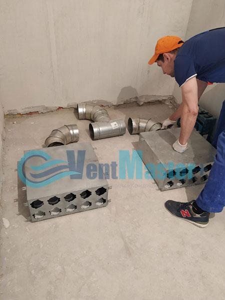 Монтаж приточной установки Minibox E-650 и воздуховодов Blaufast Фото17