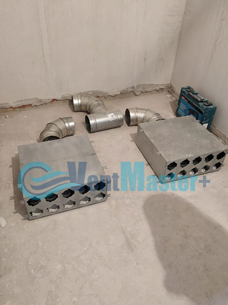 Монтаж приточной установки Minibox E-650 и воздуховодов Blaufast Фото19