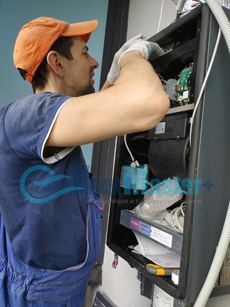 Монтаж приточной установки Minibox E-650 и воздуховодов Blaufast Фото59