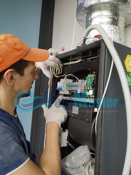 Монтаж приточной установки Minibox E-650 и воздуховодов Blaufast Фото61