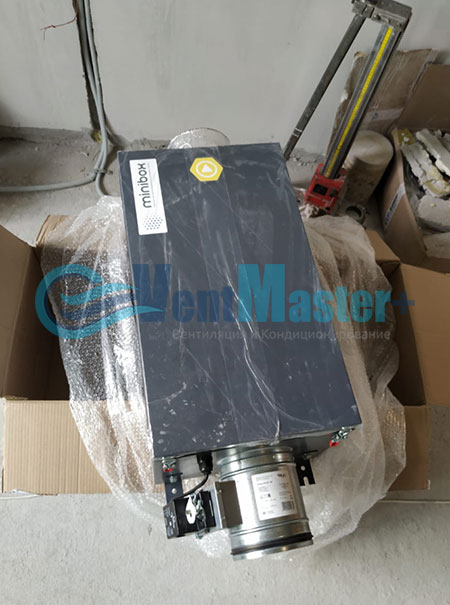Монтаж приточной установки Minibox E-650 и воздуховодов Blaufast Фото51