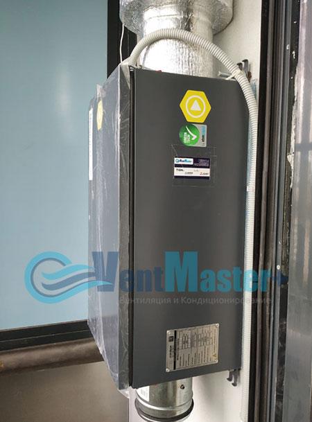 Монтаж приточной установки Minibox E-650 и воздуховодов Blaufast Фото52