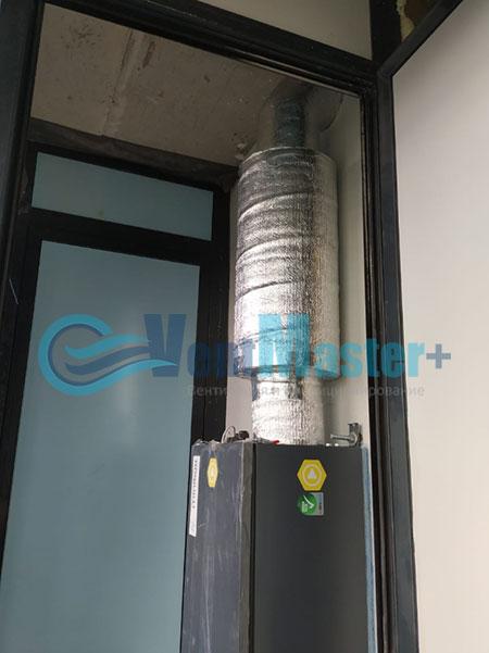 Монтаж приточной установки Minibox E-650 и воздуховодов Blaufast Фото54