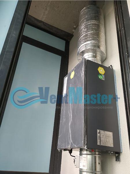 Монтаж приточной установки Minibox E-650 и воздуховодов Blaufast Фото57
