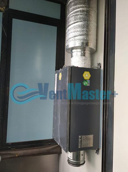 Монтаж приточной установки Minibox E-650 и воздуховодов Blaufast Фото58