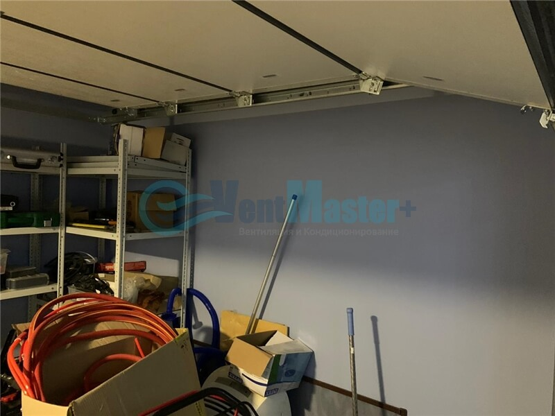 Установка рекуператора Vakio-Base-Plus в гараже Фото11