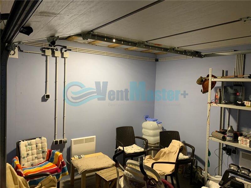 Установка рекуператора Vakio-Base-Plus в гараже Фото12