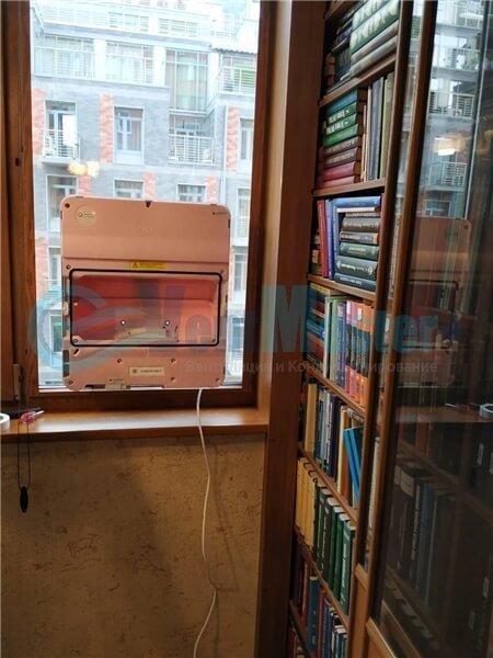 Установка бризера Тион 3s на стеклопакет балконной стены, Москва, ул. Хромова Фото11