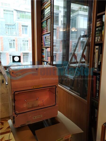 Установка бризера Тион 3s на стеклопакет балконной стены, Москва, ул. Хромова Фото8