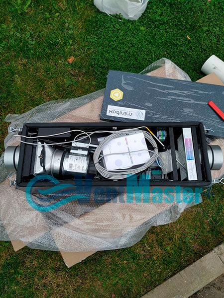 Монтаж приточной установки Minibox E-300 Zentec c шумоглушителем Фото6