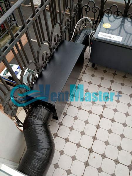Монтаж приточной установки Minibox E-650 c прямоугольным шумоглушителем Фото19