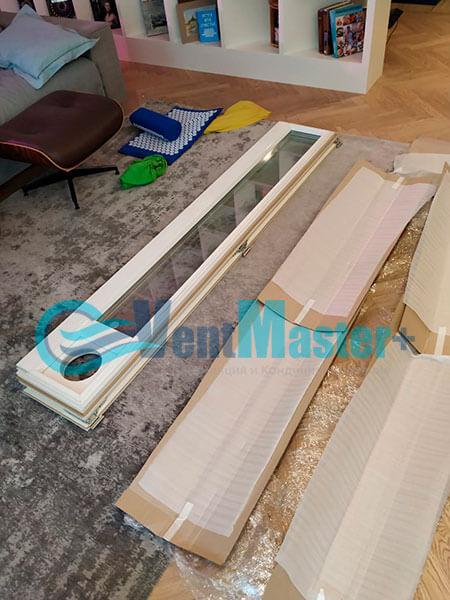 Монтаж приточной установки Minibox E-650 c прямоугольным шумоглушителем Фото4