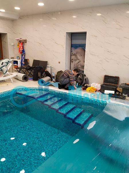 Монтаж приточной установки Minibox E-650 Zentec в бассейн Фото24