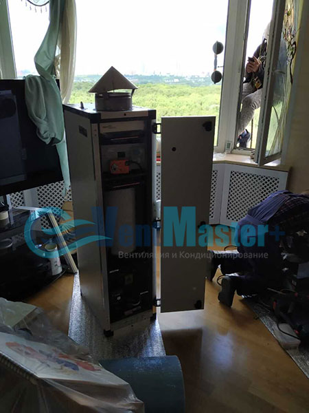 Монтаж приточной установки ПВУ-500 Фото6