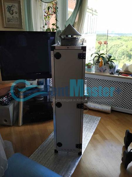 Монтаж приточной установки ПВУ-500 Фото8