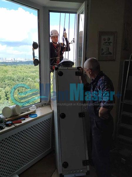 Монтаж приточной установки ПВУ-500 Фото9