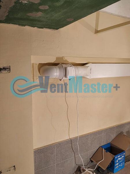 Монтаж вентиляции в гараже с вентилятором Вентс ТТ 150 Фото1