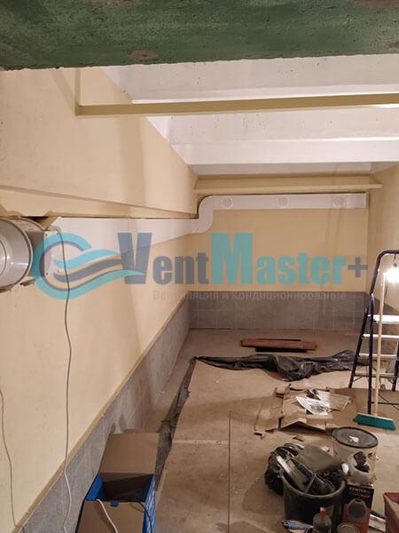 Монтаж вентиляции в гараже с вентилятором Вентс ТТ 150 Фото2