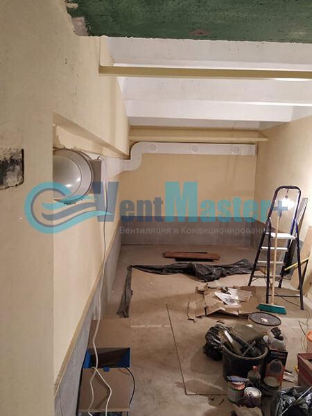 Монтаж вентиляции в гараже с вентилятором Вентс ТТ 150 Фото3