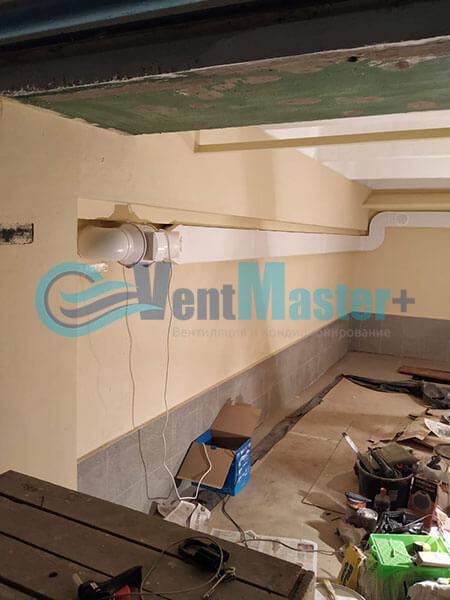Монтаж вентиляции в гараже с вентилятором Вентс ТТ 150 Фото4