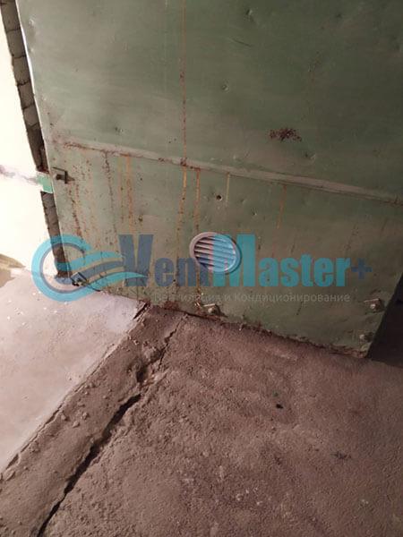 Монтаж вентиляции в гараже с вентилятором Вентс ТТ 150 Фото5