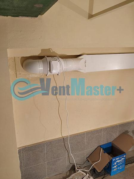Монтаж вентиляции в гараже с вентилятором Вентс ТТ 150 Фото7