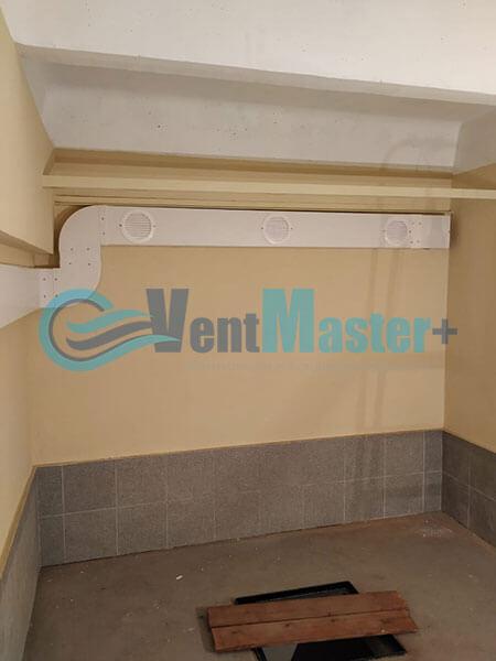 Монтаж вентиляции в гараже с вентилятором Вентс ТТ 150 Фото8