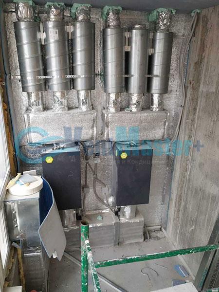 Установка воздуховодов Blaufast для центральной вентиляции Фото1