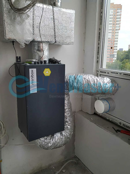Установка воздуховодов Blaufast для центральной вентиляции Фото14