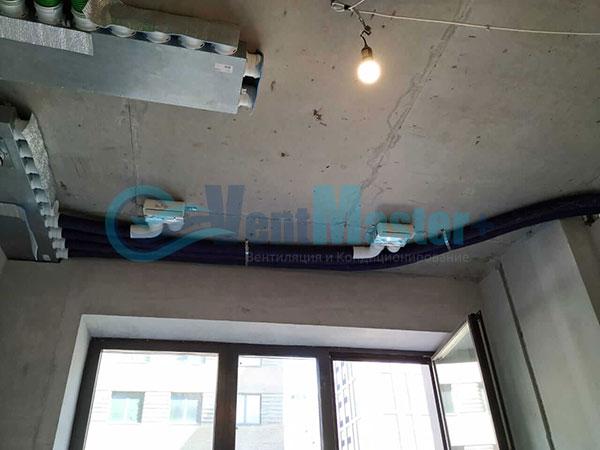 Установка воздуховодов Blaufast для центральной вентиляции Фото16