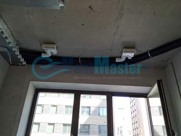 Установка воздуховодов Blaufast для центральной вентиляции Фото17