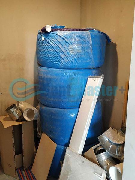 Установка воздуховодов Blaufast для центральной вентиляции Фото20