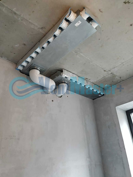 Установка воздуховодов Blaufast для центральной вентиляции Фото21
