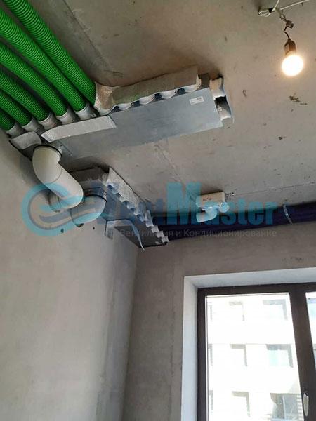 Установка воздуховодов Blaufast для центральной вентиляции Фото22