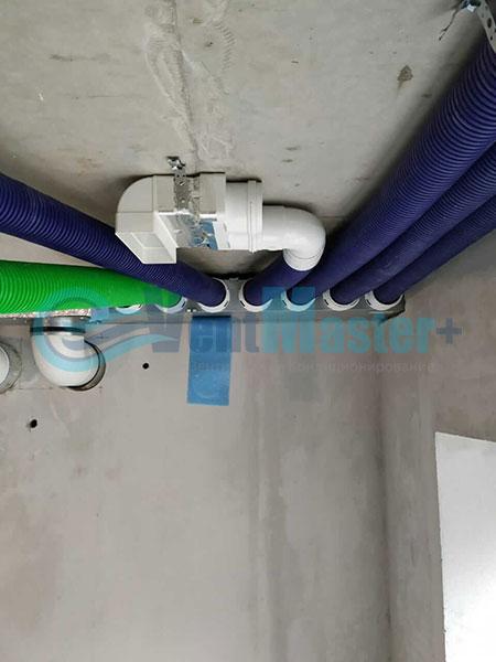 Установка воздуховодов Blaufast для центральной вентиляции Фото23