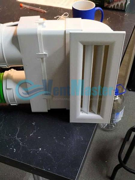 Установка воздуховодов Blaufast для центральной вентиляции Фото24